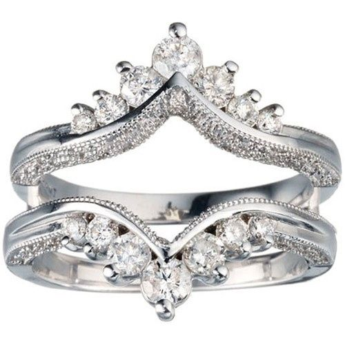 Tmx 1391901486763 Chevron Style Ring Guard With Millgrained Edges An Englewood Cliffs, New Jersey wedding jewelry