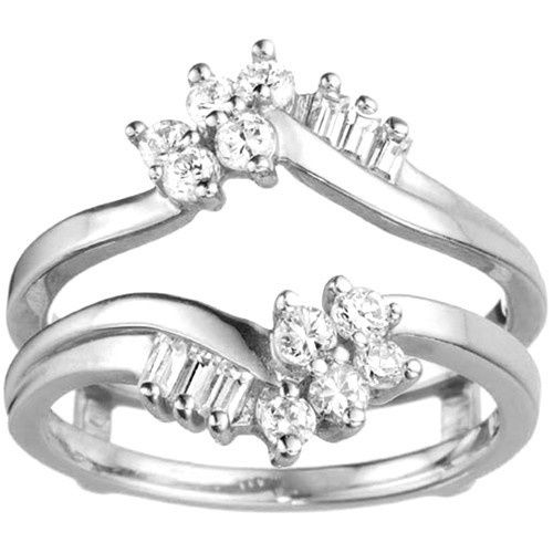 Tmx 1391902882975 Bypass Style Ring Guard With Round And Baguette St Englewood Cliffs, NJ wedding jewelry
