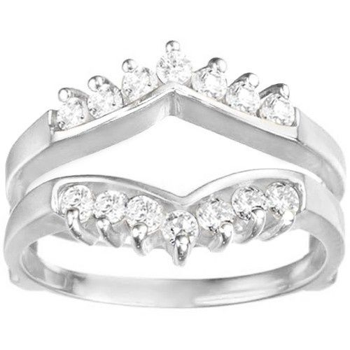 Tmx 1391902887879 Chevron Style Ring Guard With Round Stone Englewood Cliffs, New Jersey wedding jewelry