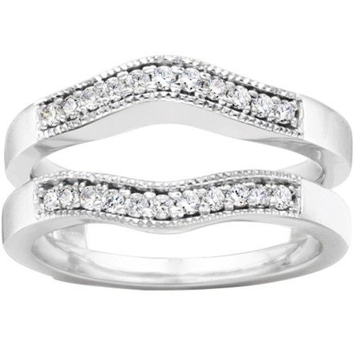 Tmx 1391902902011 Countour Style Ring Guard With Millgrained Edge Englewood Cliffs, New Jersey wedding jewelry
