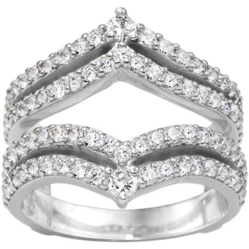 Tmx 1391902910976 Double Row Chevron Style Anniversary Ring Guar Englewood Cliffs, NJ wedding jewelry