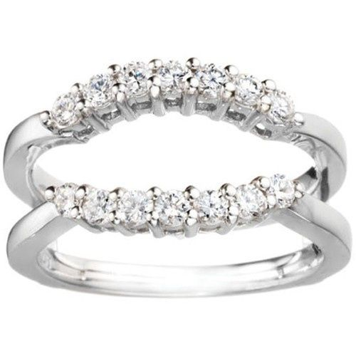 Tmx 1391902917679 Double Shared Prong Contour Ring Guar Englewood Cliffs, NJ wedding jewelry