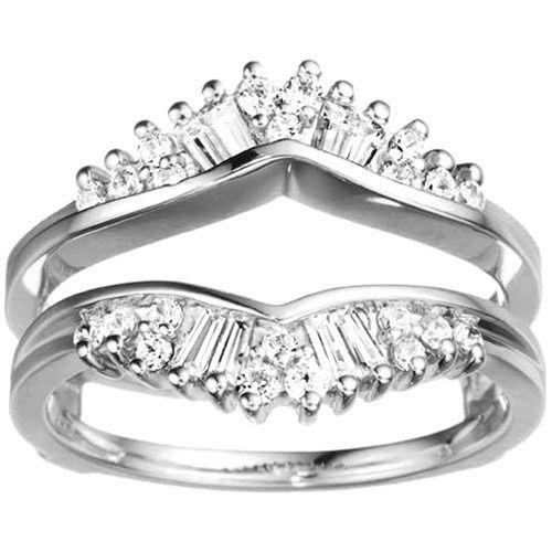 Tmx 1391902928155 Fancy Fan Shaped Ring Guard Enhance Englewood Cliffs, New Jersey wedding jewelry