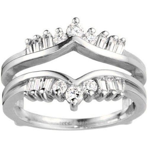 Tmx 1391902947868 Traditional Style Chevron Ring Guard Enhance Englewood Cliffs, NJ wedding jewelry