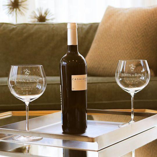 Newlywed Wine Glasses