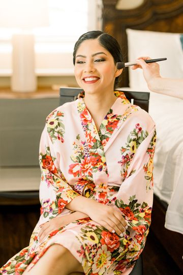 Setting the glam for the Bride