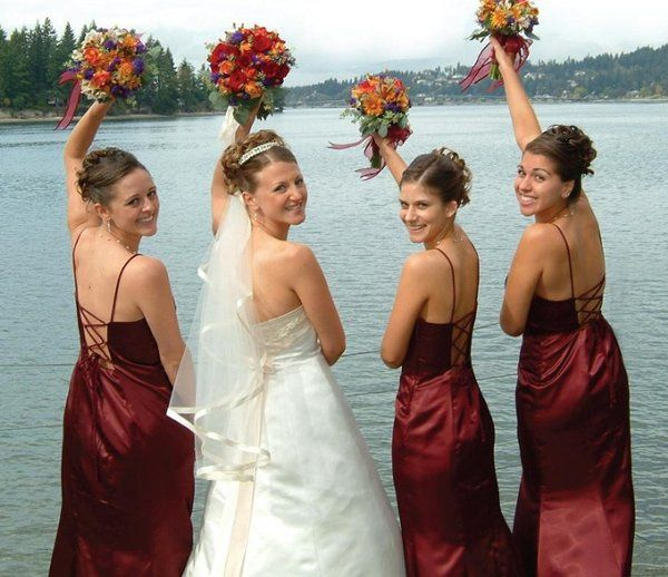 Lovely bride and bridesmaids on our beach!