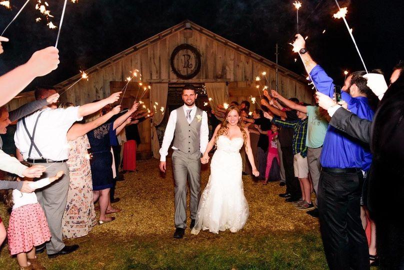 Newlyweds being celebrated