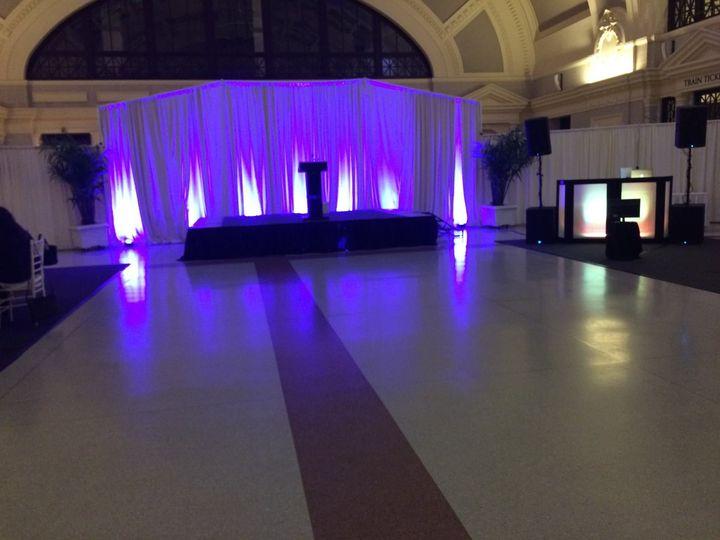 Uplighting and dance floor