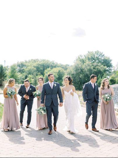 Charcoal Gray Spring Wedding