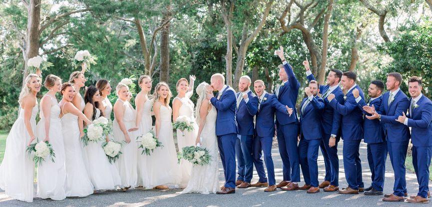 Brilliant Blue Spring Wedding