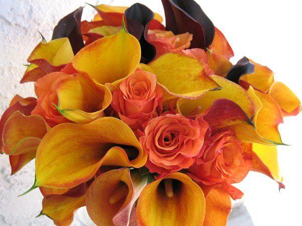 Sunset bridal bouquet.