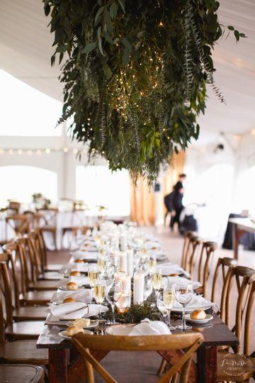 Elegantly rustic tablescape
