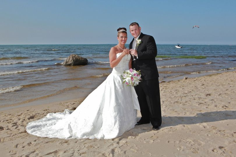 Beach Portraits offer a unique challenge dealing with the elements! We can even add a Sea Gull...