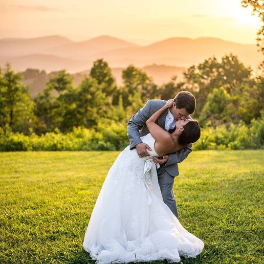 Amazing Sunset at a Mountaintop Wedding
