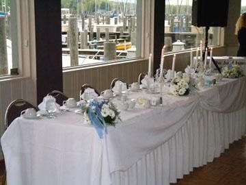 Head table by windows