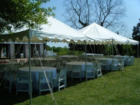 20 x 40 canopy with tables & chairs