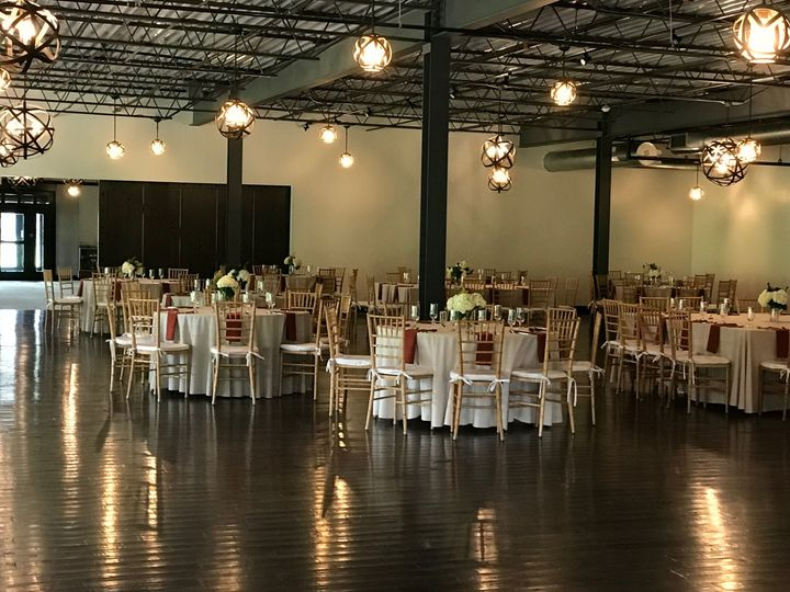 Rafters space designed for wedding reception