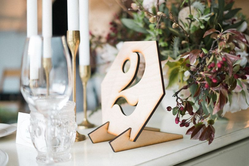 laser cut table number