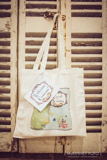 Wedding Map Tote