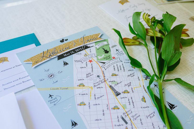 Custom Wedding Map Invitation, Wedding Itinerary, Program