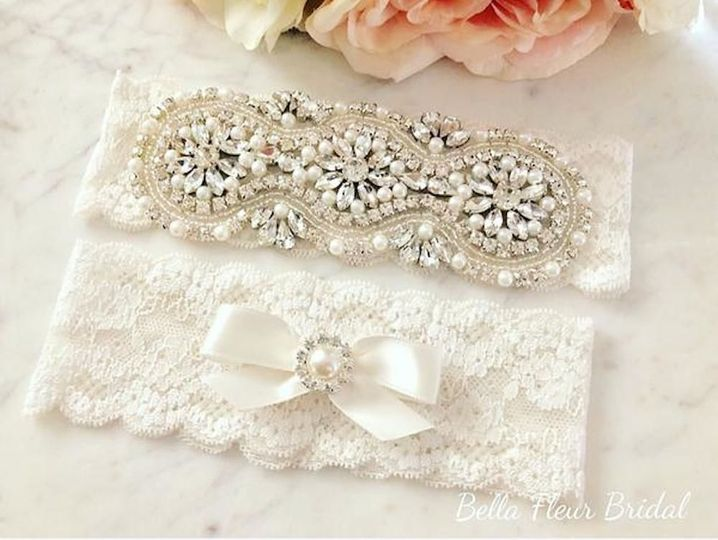 Crystal Rhinestone Wedding Garter Set$32