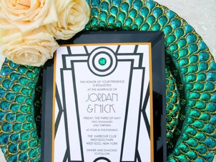 Tmx 1489984157090 Gatsby Shoot Bronx wedding invitation