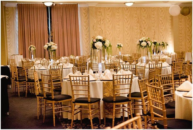 Bright Ballroom Reception