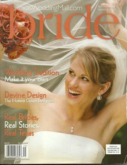 BRIDAL Magazine cover 2007, makeup by Carrie Von Loudon