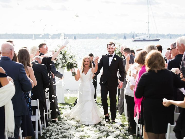 Tmx Bell Mer Salon Lawn Cheering At End Of Ceremony Will And D Photography 51 43700 158464438985799 Newport, RI wedding venue