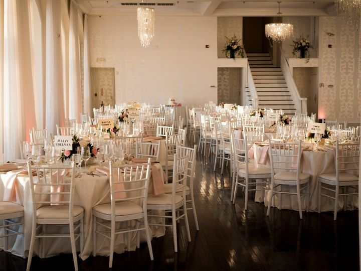 Tmx Belle Mer Salon White Rounds With Pretty Light Patriots Table Names Snap Photography 51 43700 158464443615789 Newport, RI wedding venue