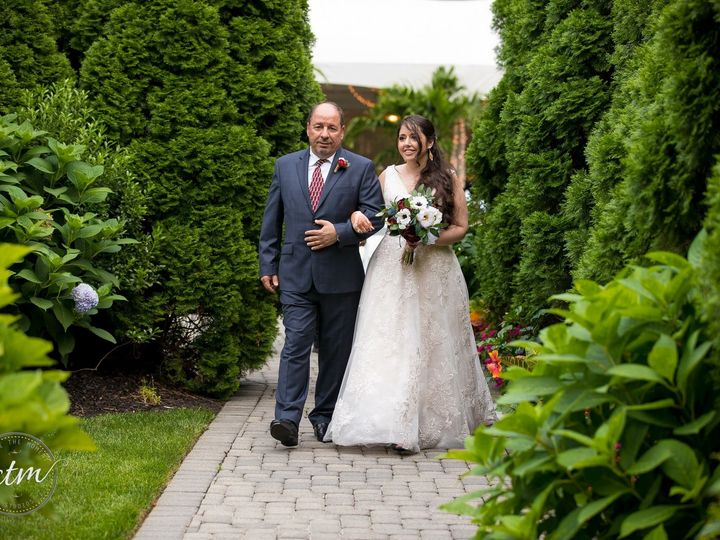 Tmx Bride Walking Down Garden Waterfront Wedding Chapel At Our Waterfront Wedding Venue 51 64700 Ronkonkoma, NY wedding venue