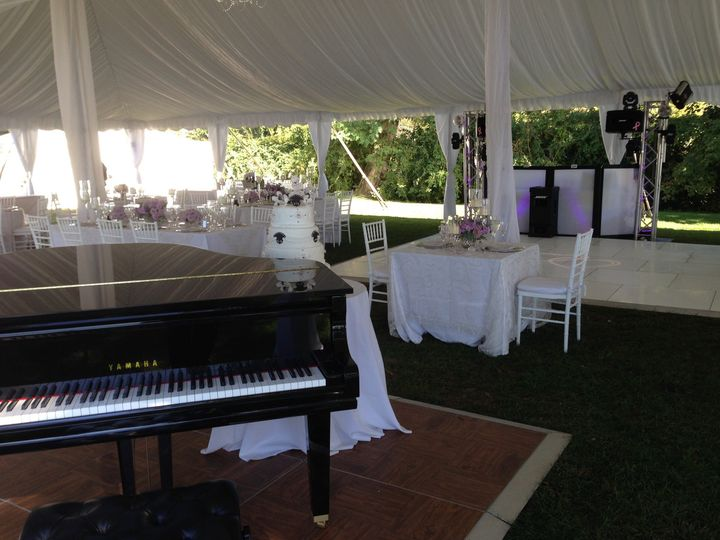 A wedding reception right on the shore of the Hudson River at the historic Clermont Estate in...