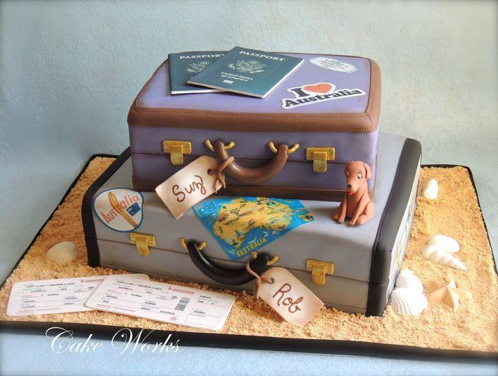australia themed wedding cake w