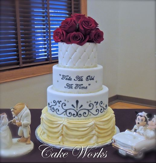 wedding cake beauty and the beast cake works wedding cake loveland colorado cheyenne 22000