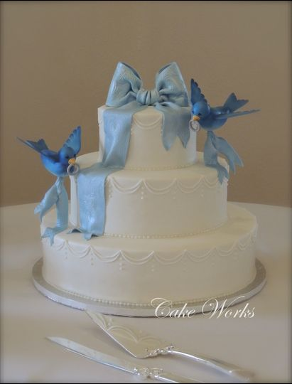 bluebird wedding cake