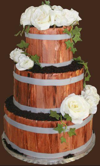 Wood inspired cake