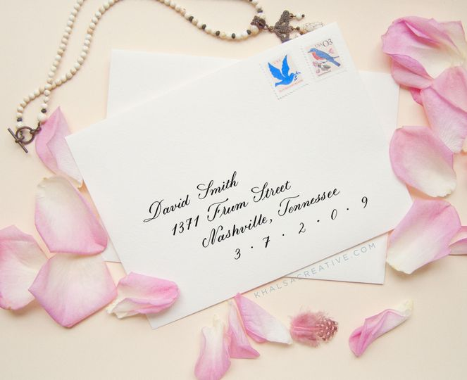 Classic Style Calligraphy Envelope Addressing