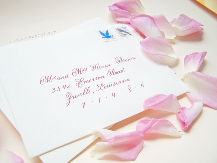 Ornate Style Calligraphy Envelope Addressing