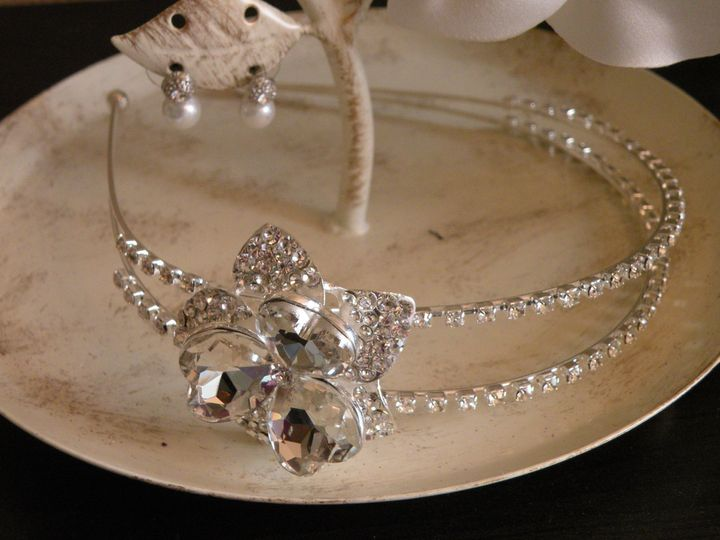 Tmx 1418237481683 Rhinestone Flower Headband F Tampa wedding dress