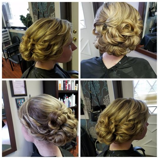 Angles of updo