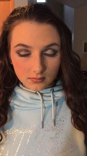 Strong eyeshadow