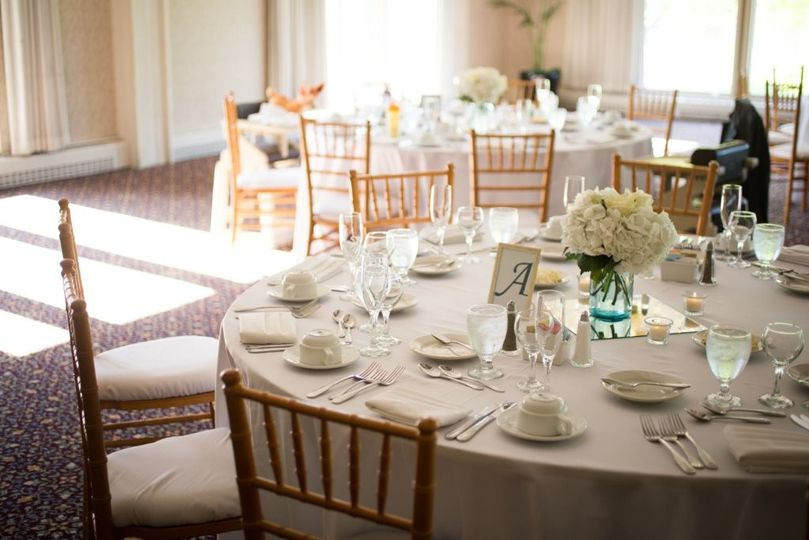 Table settings ready for guests