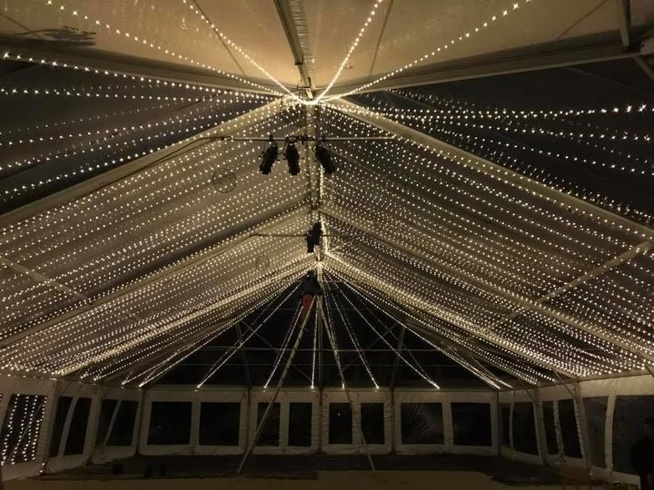Ceiling of fairy lights