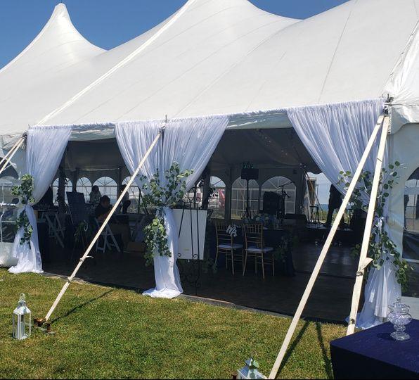 Draped Tent Entrance