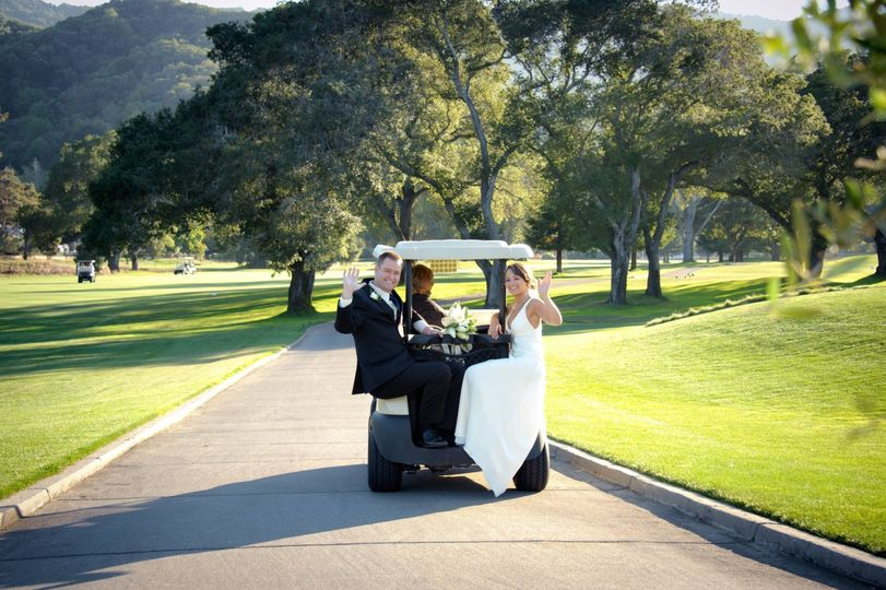 After Ceremony Cart Ride