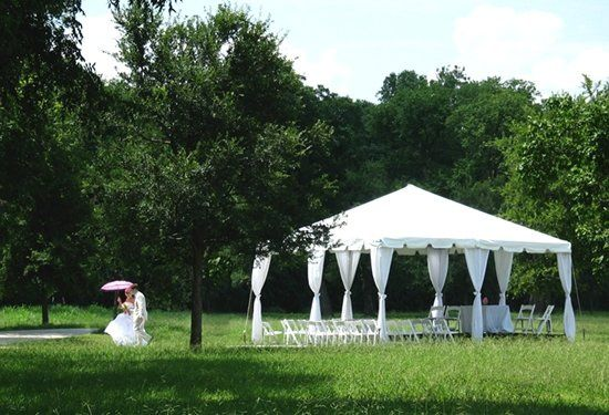 20' x 20' frame tent at White Rock Lake
