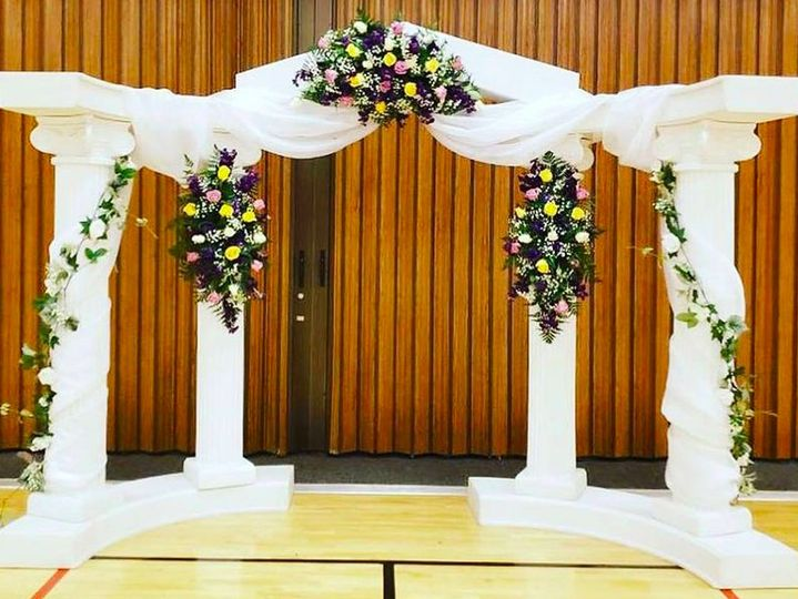 An elegant wedding arch