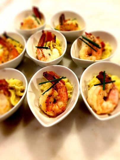 shrimp lejon tasting bowl