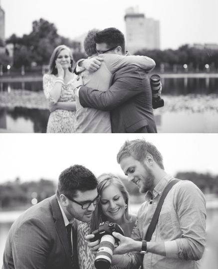 This photo was taken by Esther Louise Photography right after we captured my best buddy's engagement...